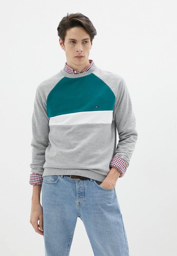 мужской свитшот tommy hilfiger, серый