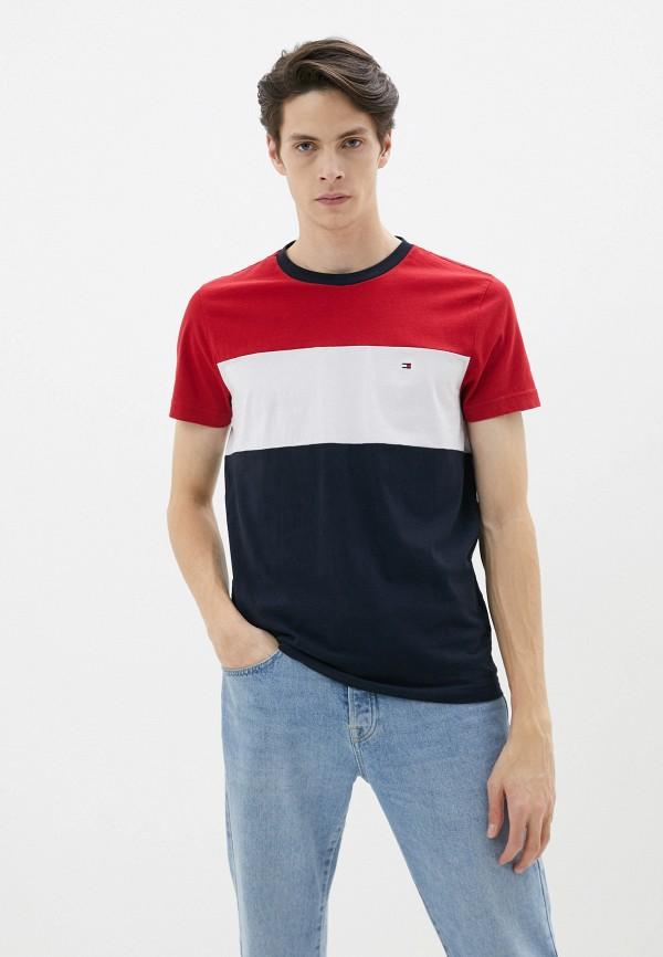 мужская футболка с коротким рукавом tommy hilfiger, разноцветная