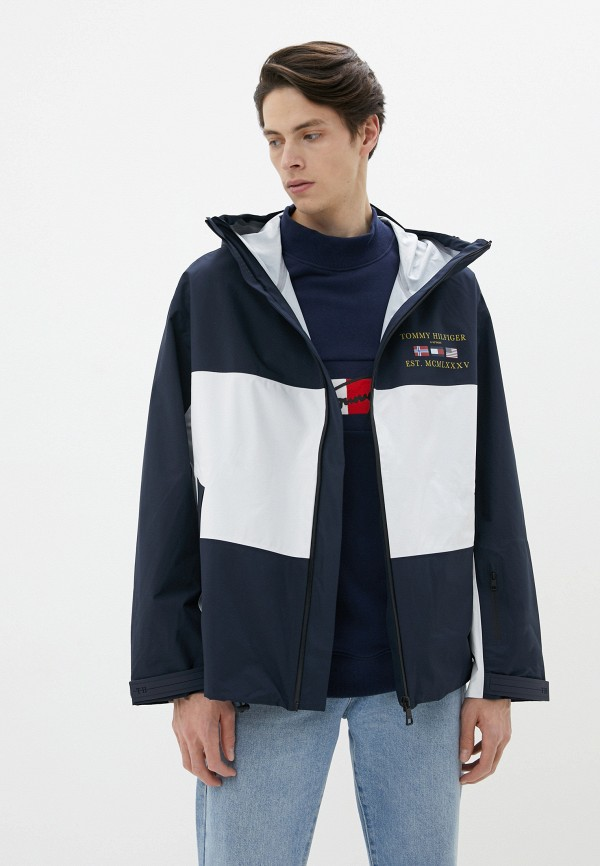 мужская утепленные куртка tommy hilfiger, разноцветная