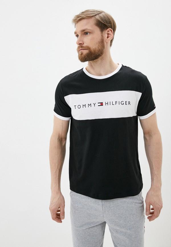 мужская футболка tommy hilfiger, черная