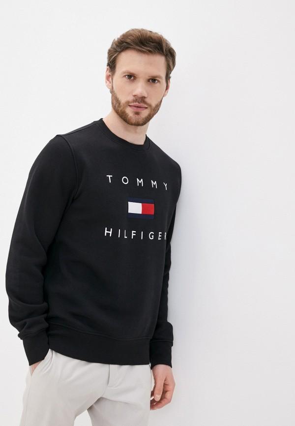 мужской свитшот tommy hilfiger, черный