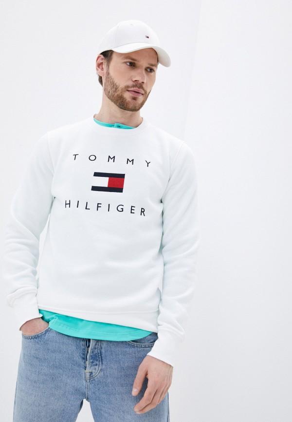 мужской свитшот tommy hilfiger, белый