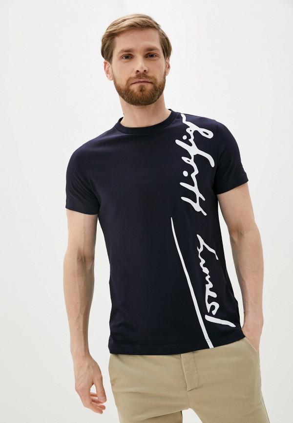 мужская футболка с коротким рукавом tommy hilfiger, черная