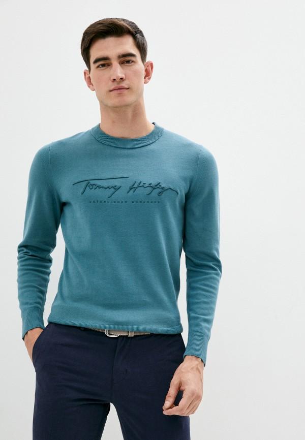 мужской джемпер tommy hilfiger, зеленый