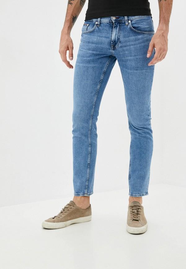 мужские прямые джинсы tommy hilfiger, синие