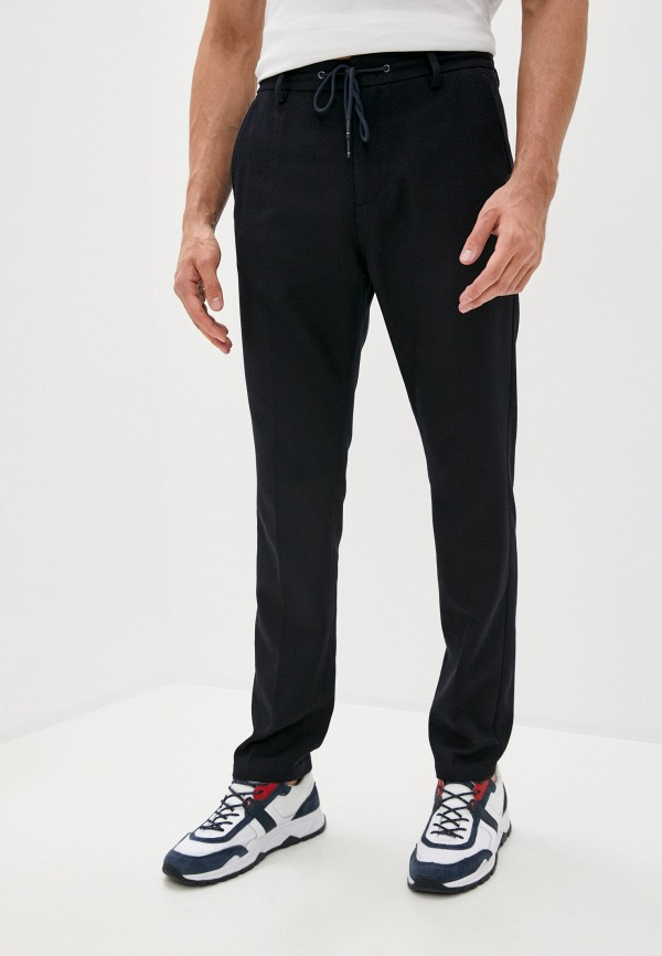 мужские повседневные брюки tommy hilfiger, синие