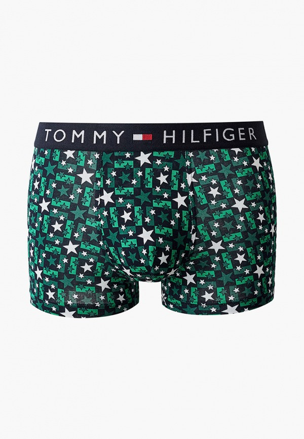 мужские трусы-боксеры tommy hilfiger, зеленые