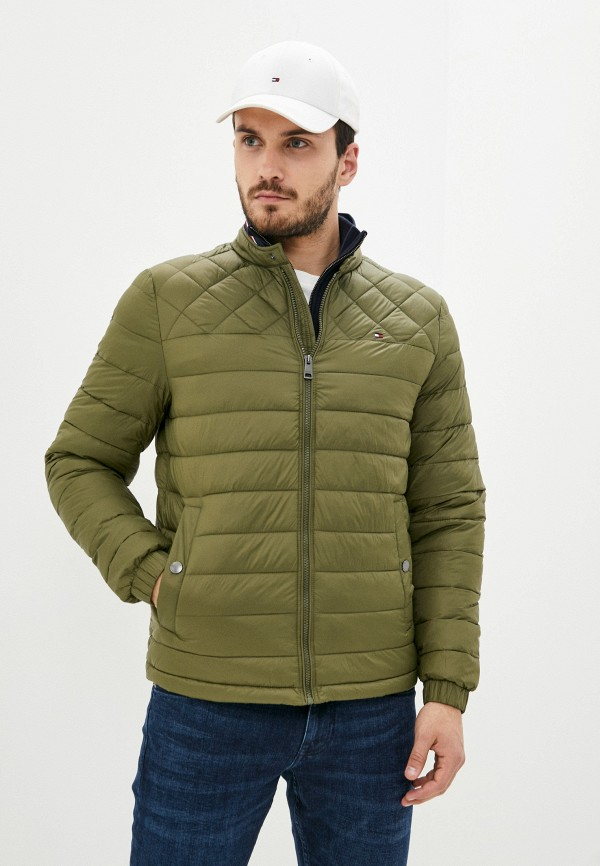 мужская куртка tommy hilfiger, хаки