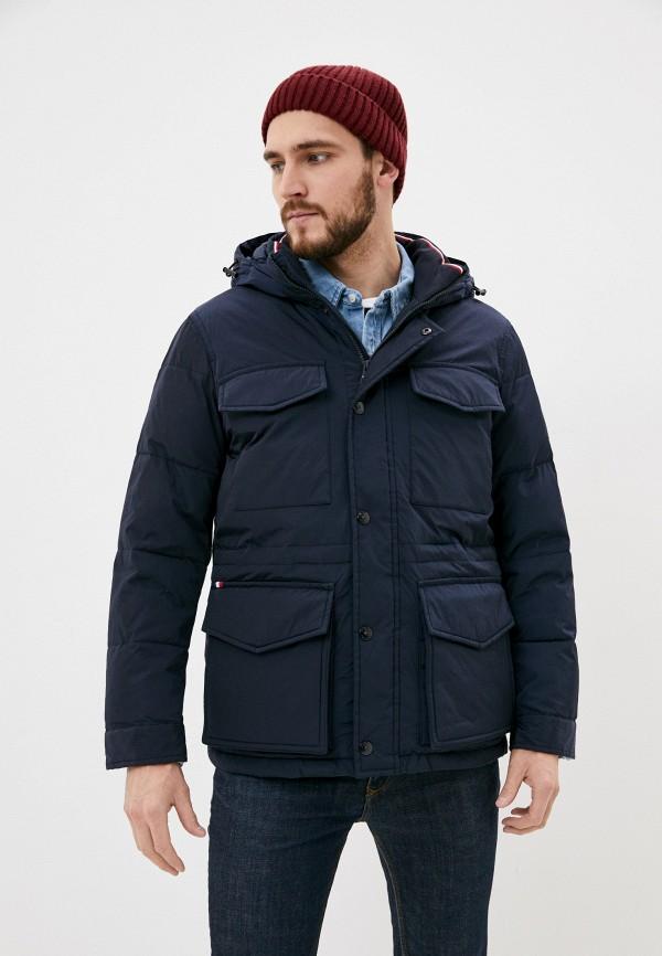 мужская куртка tommy hilfiger, синяя