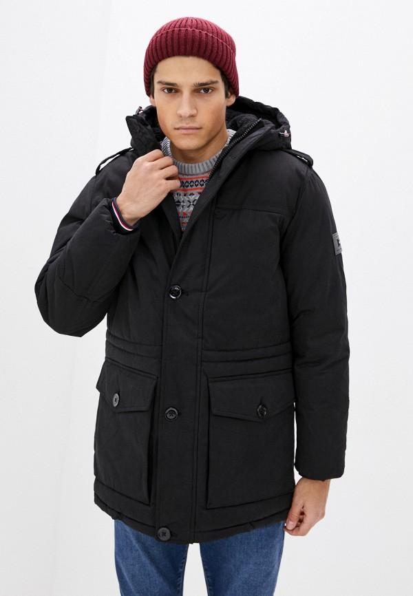 Куртка утепленная Tommy Hilfiger черного цвета