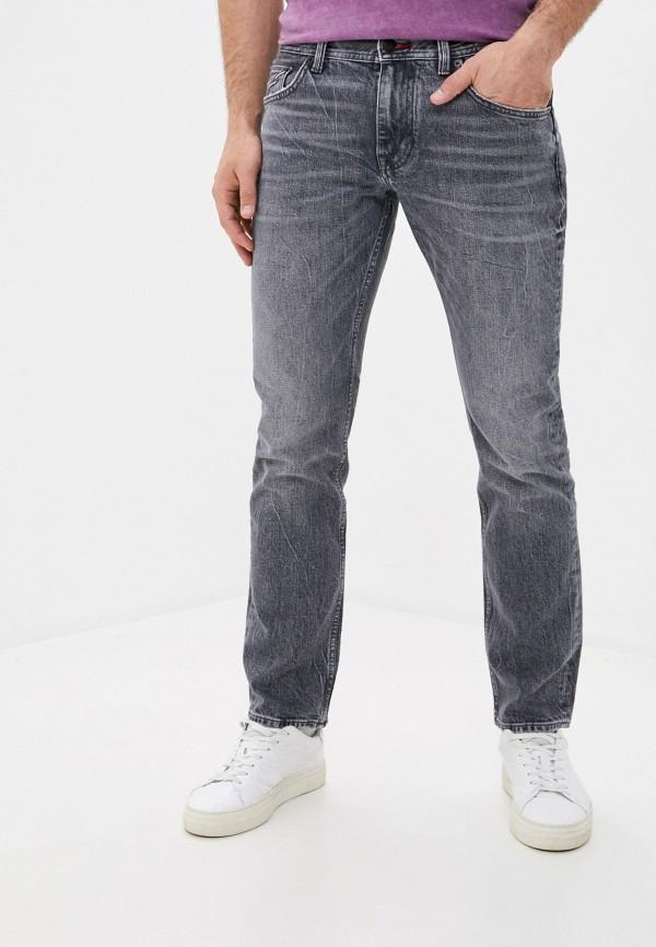 мужские прямые джинсы tommy hilfiger, серые