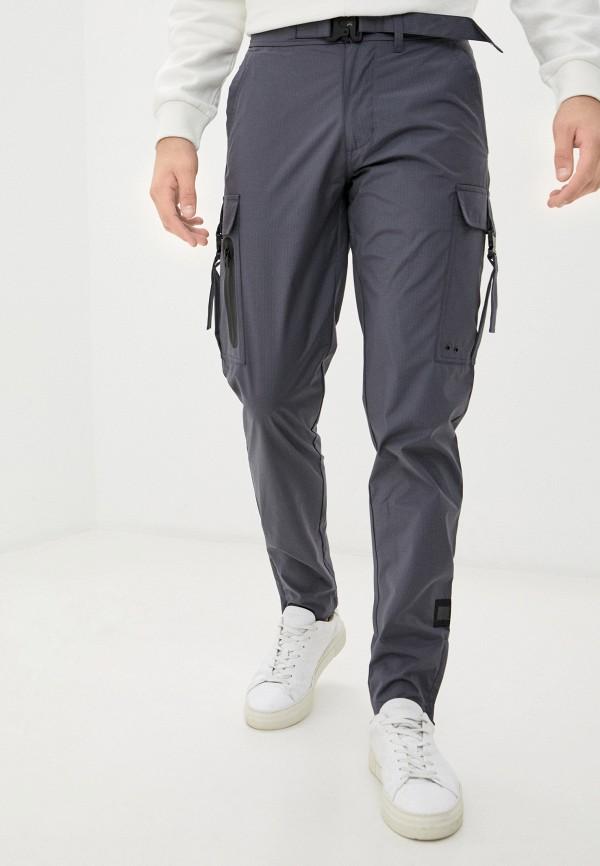 мужские зауженные брюки tommy hilfiger, серые