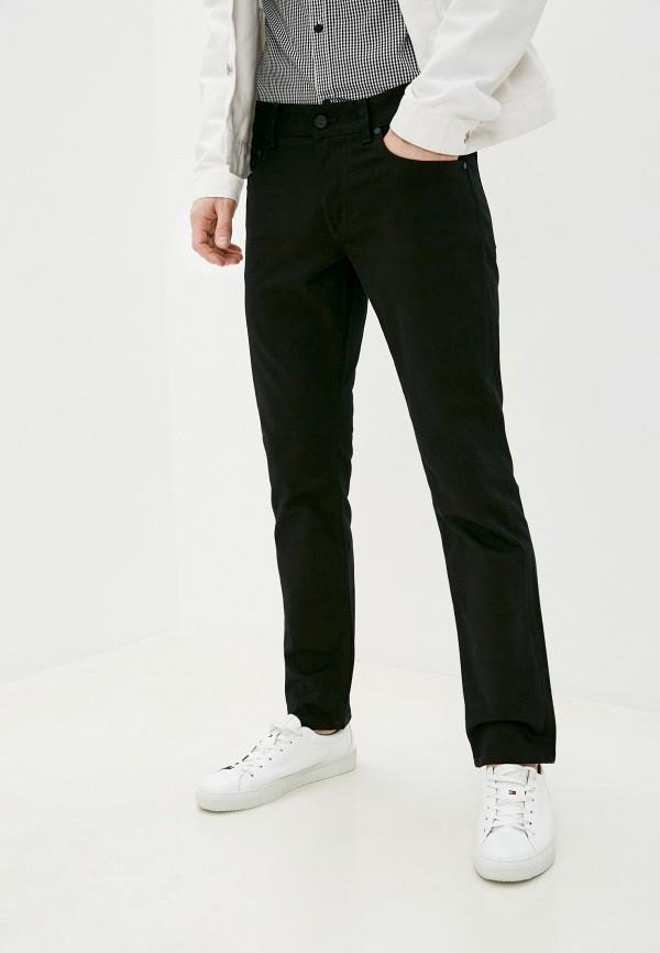 мужские зауженные джинсы tommy hilfiger, черные