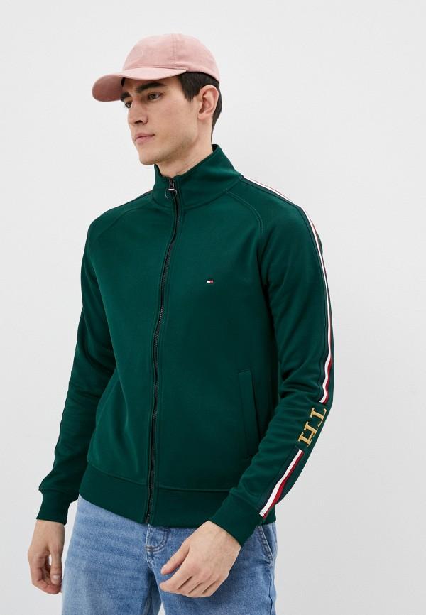 мужская олимпийка tommy hilfiger, зеленая