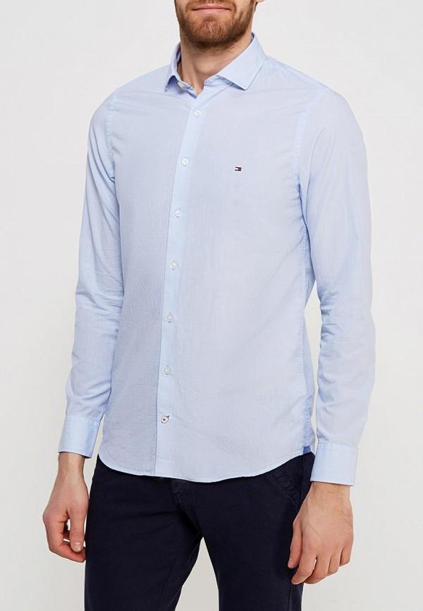 Фото - мужскую рубашку Tommy Hilfiger голубого цвета