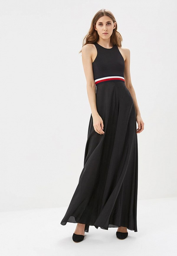 Купить Платье Tommy Hilfiger, Gigi Hadid, to263ewagbq4, черный, Весна-лето 2018