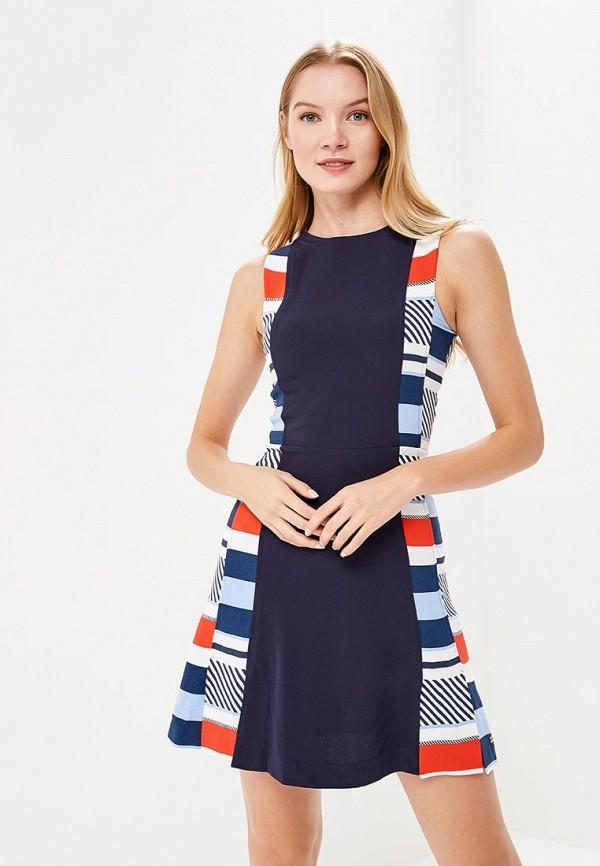 Купить Платье Tommy Hilfiger, TO263EWAITM8, синий, Весна-лето 2018