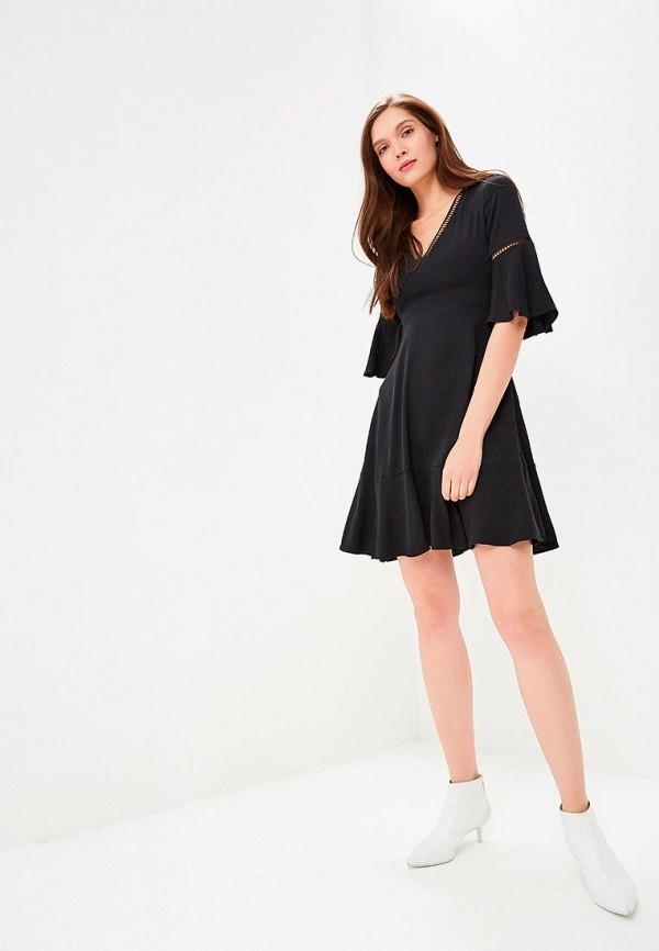 Фото 5 - женское вечернее платье Tommy Hilfiger черного цвета