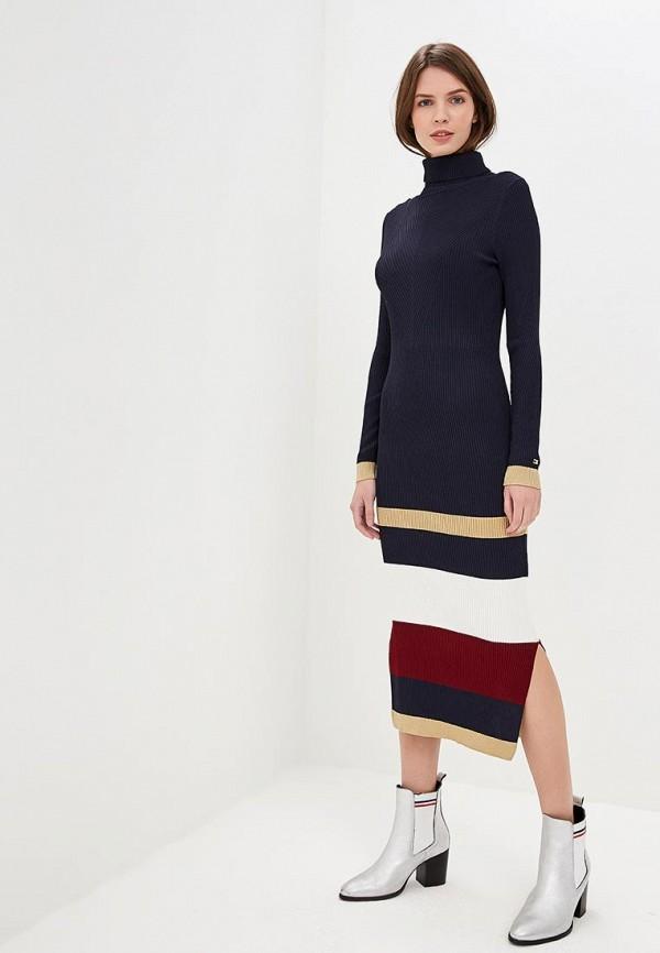 Купить Платье Tommy Hilfiger, Tommy Icons, to263ewbwlh6, синий, Осень-зима 2018/2019