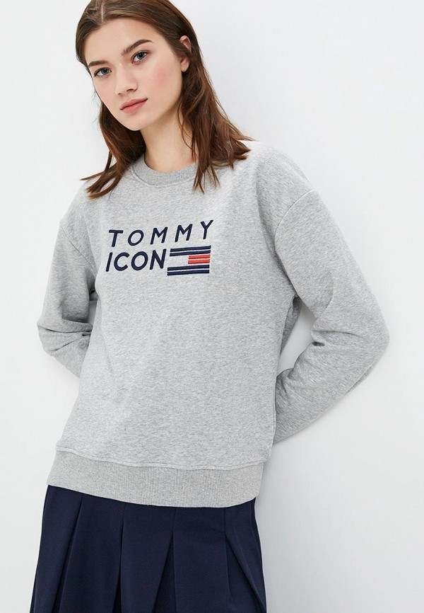 Купить Свитшот Tommy Hilfiger, Tommy Icons, to263ewbwli1, серый, Осень-зима 2018/2019