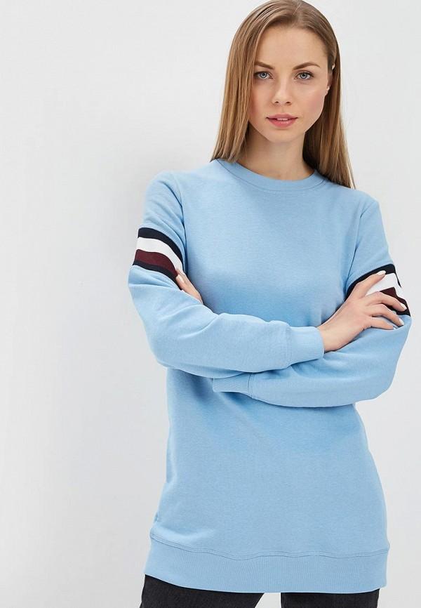 женский свитшот tommy hilfiger, голубой