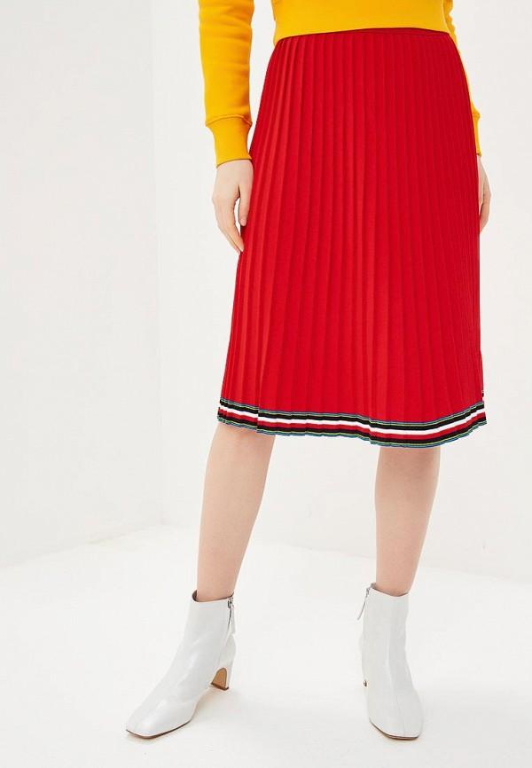 Фото - женскую юбку Tommy Hilfiger красного цвета
