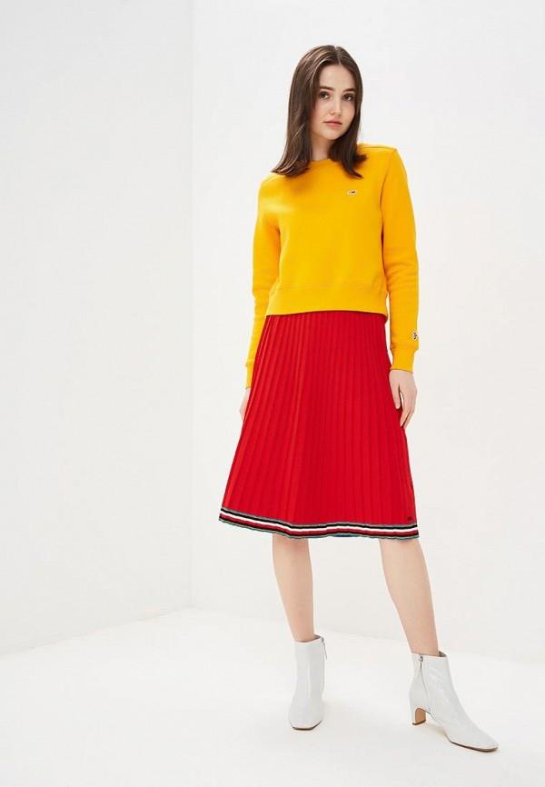 Фото 2 - женскую юбку Tommy Hilfiger красного цвета