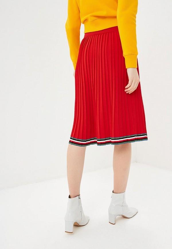 Фото 3 - женскую юбку Tommy Hilfiger красного цвета