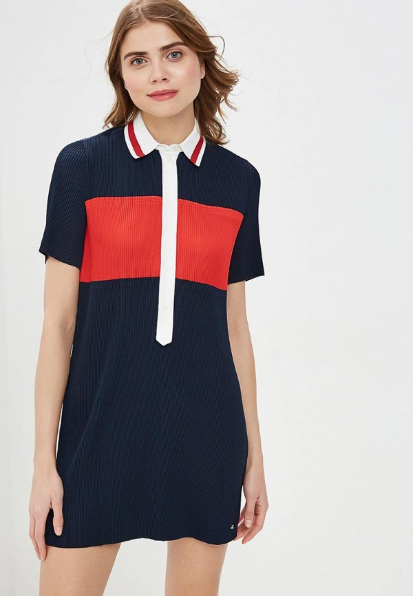 женское платье tommy hilfiger, синее