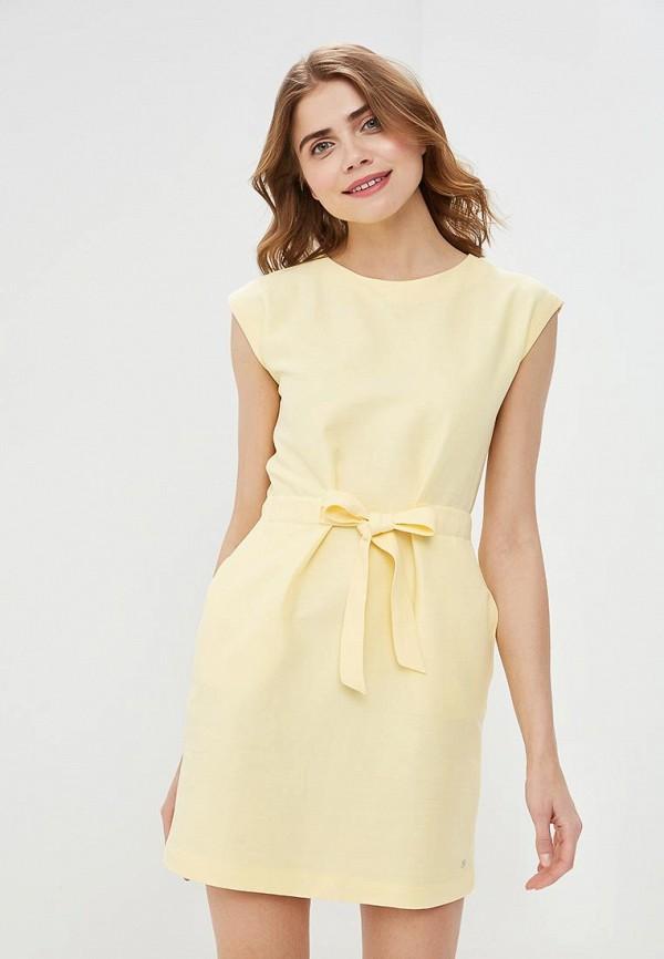 женское повседневные платье tommy hilfiger, желтое