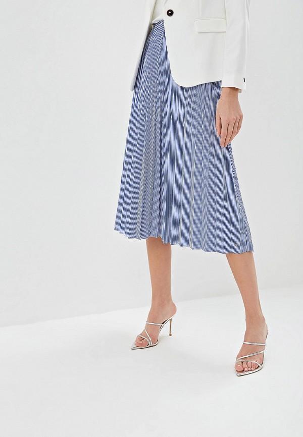 женская юбка tommy hilfiger, голубая