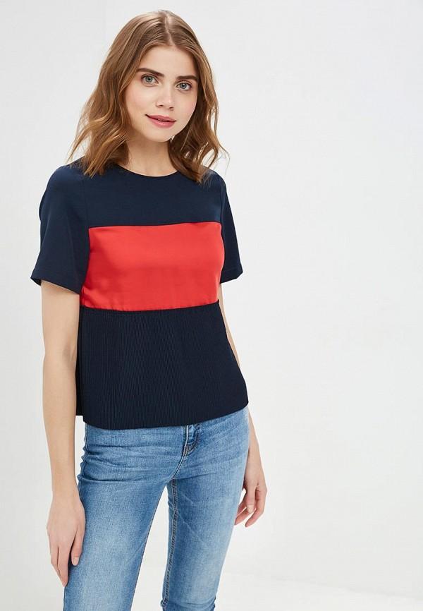 женская блузка tommy hilfiger, синяя