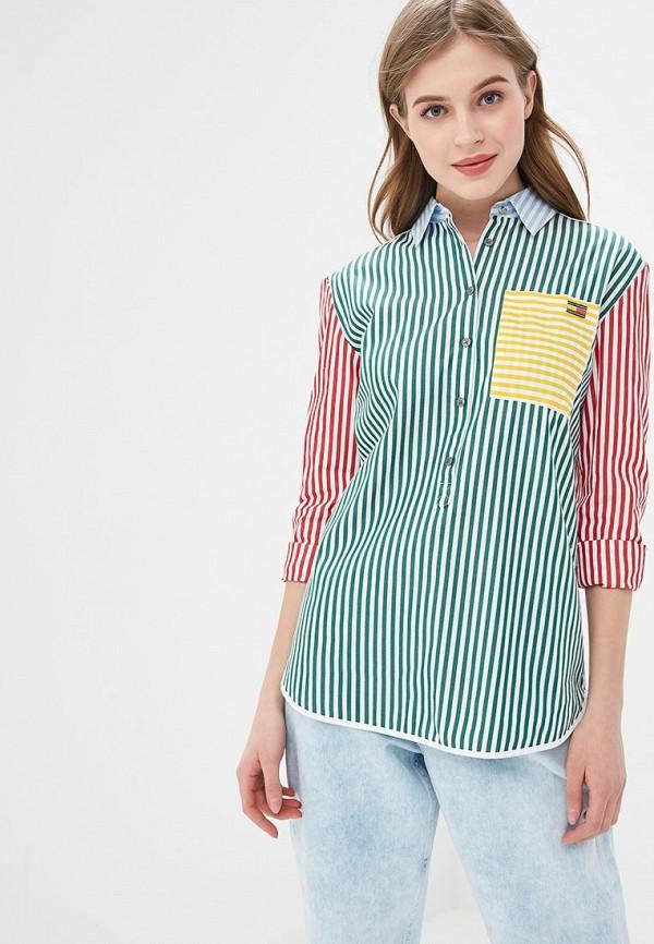 женская рубашка с длинным рукавом tommy hilfiger, разноцветная