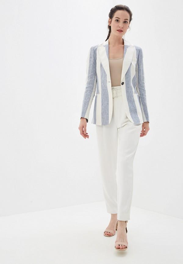 Фото 2 - женский пиджак Tommy Hilfiger белого цвета