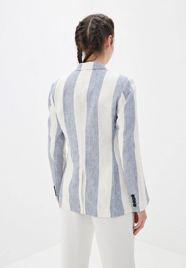 Фото 3 - женский пиджак Tommy Hilfiger белого цвета