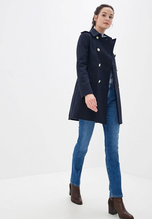 Фото 2 - женское пальто или плащ Tommy Hilfiger синего цвета