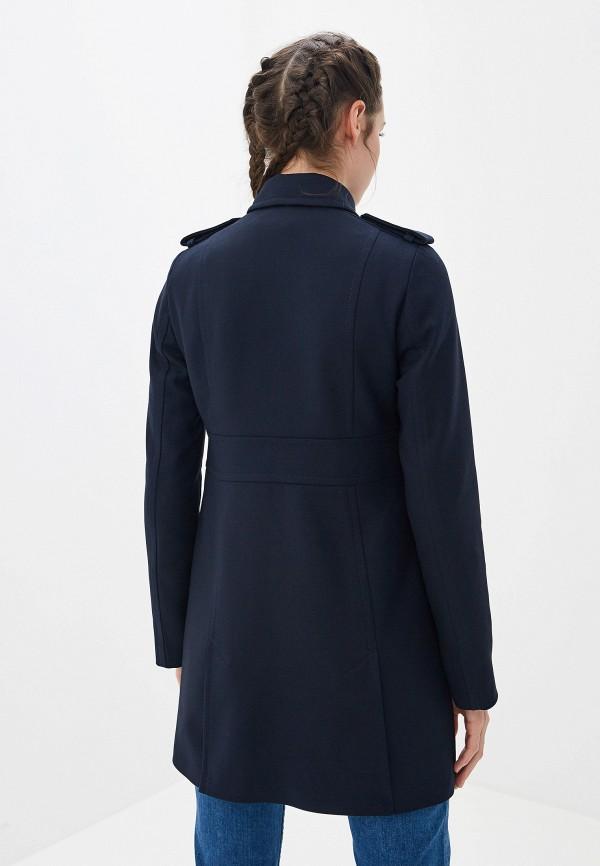Фото 3 - женское пальто или плащ Tommy Hilfiger синего цвета