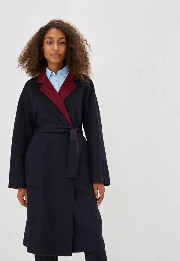 женское пальто tommy hilfiger, синее