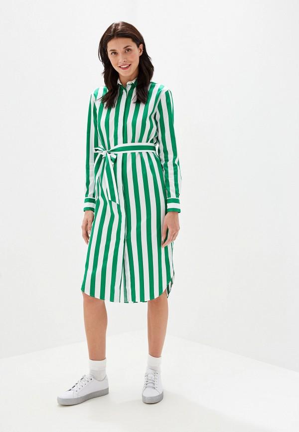 Купить Платье Tommy Hilfiger, to263ewffvq6, зеленый, Осень-зима 2019/2020