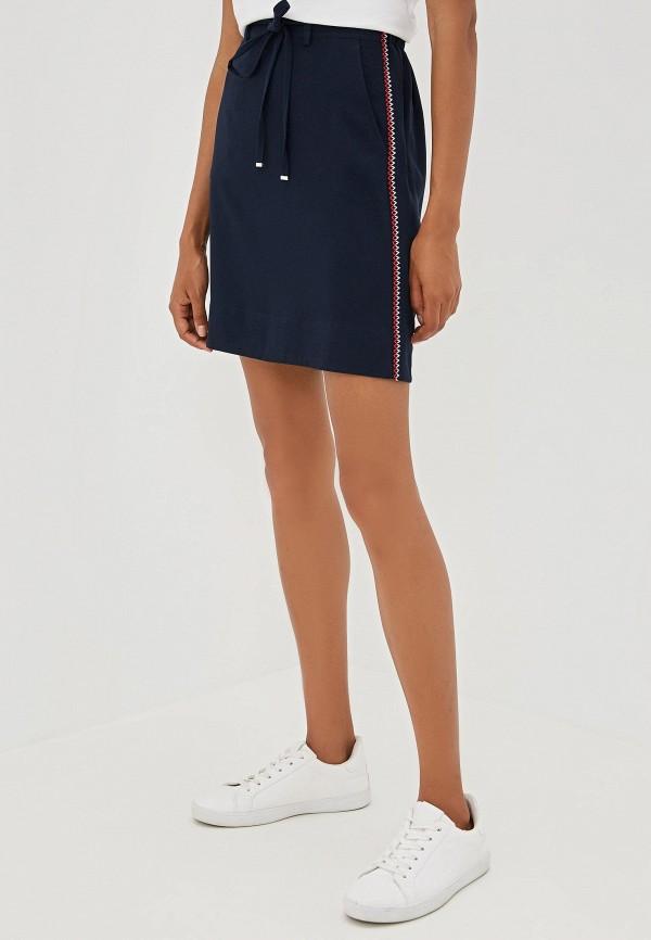 женская юбка tommy hilfiger, синяя