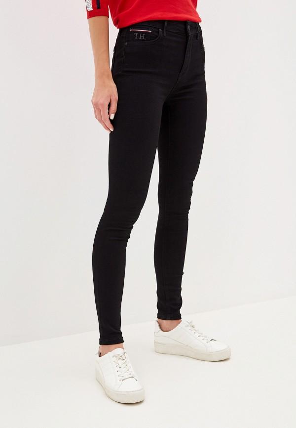 Фото - Женские джинсы Tommy Hilfiger черного цвета