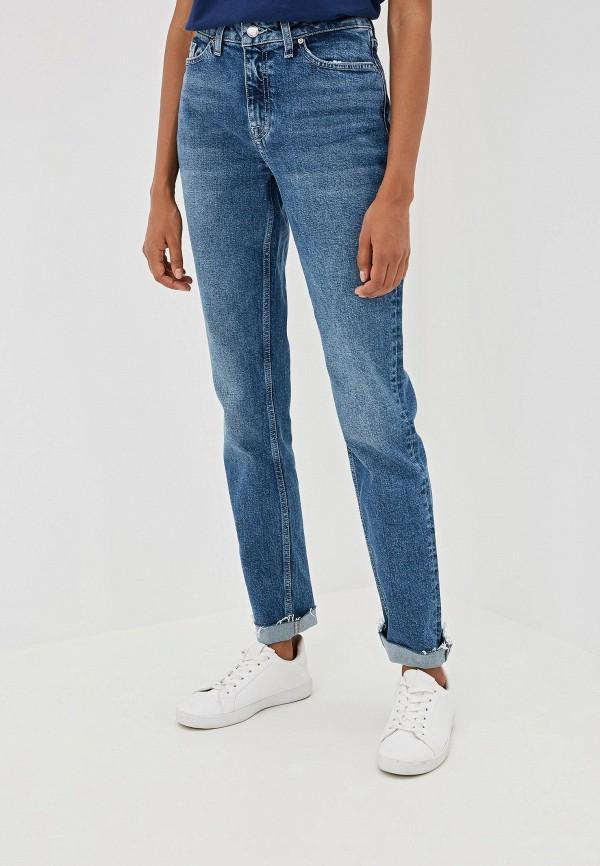 женские прямые джинсы tommy hilfiger, синие