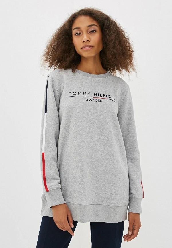 женский свитшот tommy hilfiger, серый