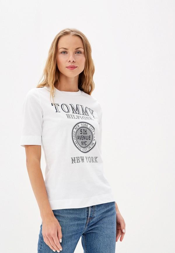 Футболка Tommy Hilfiger Tommy Hilfiger TO263EWFFVW4 платье tommy hilfiger tommy hilfiger to263ewzfv45