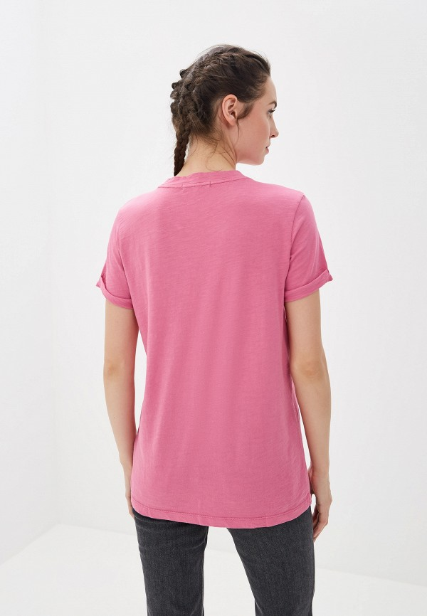 Фото 3 - женскую футболку Tommy Hilfiger розового цвета