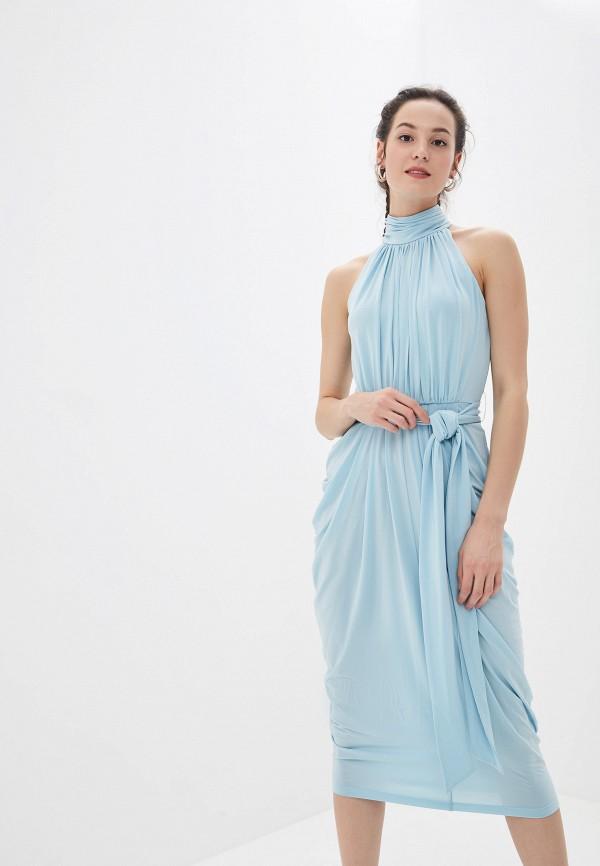 женское вечерние платье tommy hilfiger, голубое