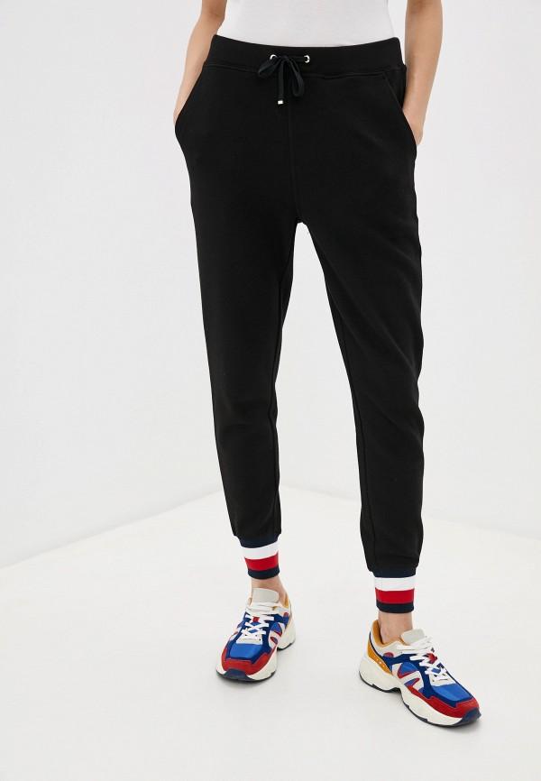 женские спортивные брюки tommy hilfiger, черные