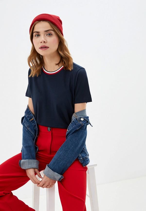 Фото - женскую футболку Tommy Hilfiger синего цвета