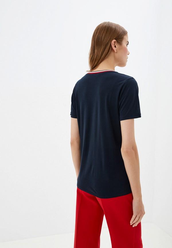 Фото 3 - женскую футболку Tommy Hilfiger синего цвета