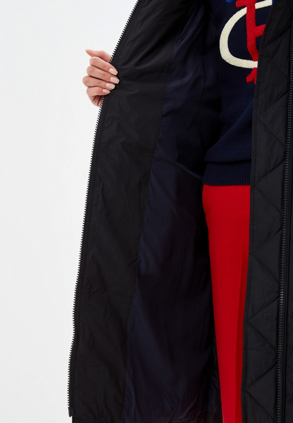 Фото 4 - женский пуховик Tommy Hilfiger черного цвета